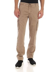 Jacob Cohën - Beige trousers with logo label