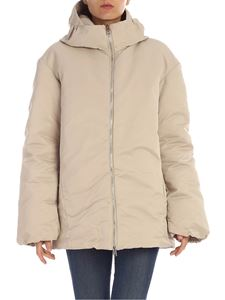 ADD - Ice colored hooded down jacket