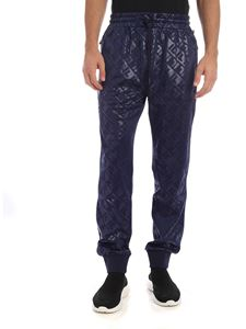Fila - Embossed Warm Up Track pants in blue