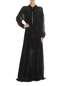 Diesel - Long pleated dress in black