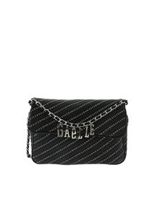 Gaelle Paris - Logo print bag in black