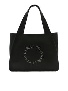 Gaelle Paris - Studded logo bag in black