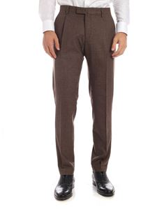 Briglia 1949 - Houndstooth trousers in shades of brown
