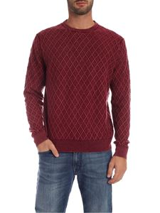 Ballantyne - Diamond pattern pullover in burgundy