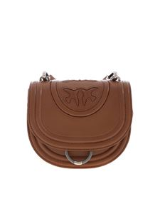 Pinko - Round Love bag in brown