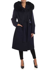 Fay - Wool and cashmere coat in blue