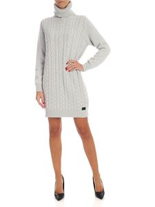Blumarine - Knit turtleneck dress in ice color