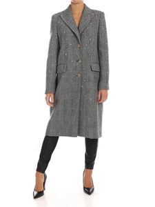 Ermanno Scervino - Prince of Wales pattern coat with rhinestones