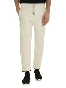 Kenzo - Drawstring trousers in ivory color