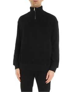 Paul Smith - High-necked zipped pullover in black