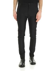 Les Hommes - Black trousers with side bands