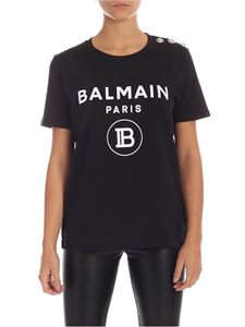Balmain - Balmain printed T-shirt in black