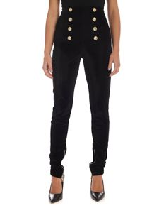 Balmain - 8-buttons skinny pants in black