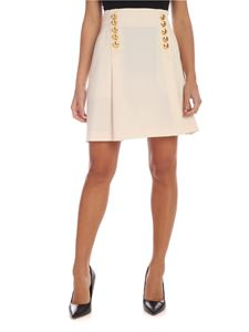 Alberta Ferretti - Short skirt in ivory color with applied buttons