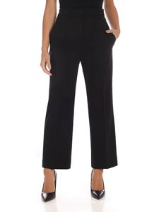 Alberta Ferretti - Crop trousers in black