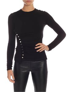Paco Rabanne - Buttoned T-shirt in black