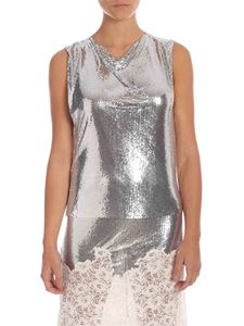 Paco Rabanne - Mini mesh top in silver