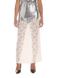 Paco Rabanne - Lace skirt with metal insert
