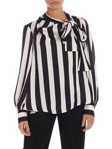 MSGM - Striped blouse in black and white