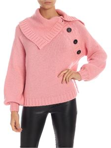 N° 21 - Maxi buttoned pullover in pink