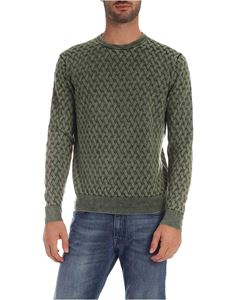 Ballantyne - Cable knitting pullover in green