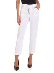 Dsquared2 - Pantalone Cool Girl in velluto bianco