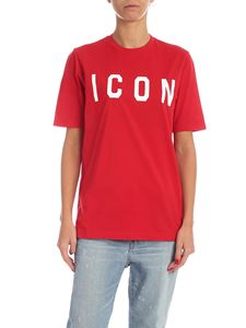 Dsquared2 - Icon print T-shirt in red
