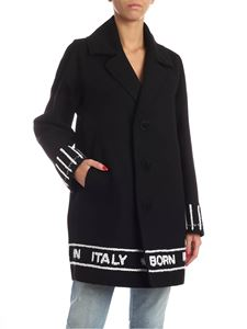 Dsquared2 - Logo embroidery coat in black
