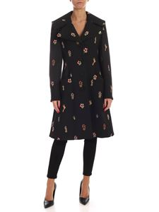 Vivetta - Hunting embroidery coat in black