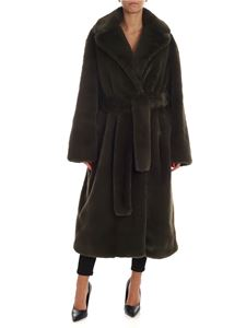 Paul Smith - Eco fur coat in green
