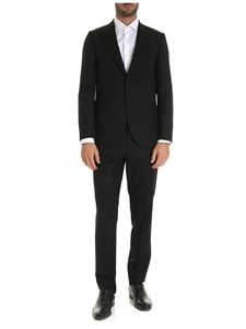 Paul Smith - Tone-on-tone prints suit in black