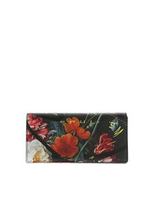 Paul Smith - Flower print black wallet