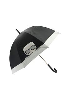 Karl Lagerfeld - Karl Ikonic large umbrella in black