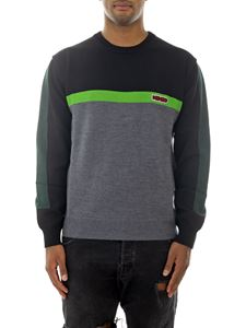 Kenzo - Branded pullover in grey and green