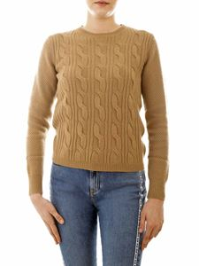 Max Mara - Termoli crew-neck pullover in mustard color