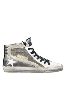 Golden Goose Deluxe Brand - Metallic Slide sneakers with shimmer insert
