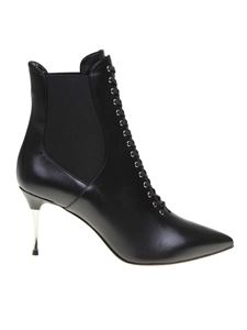 Sergio Rossi - Leather ankle boots in black