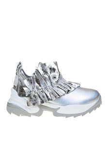 Sergio Rossi - Extreme sneakers in silver leather