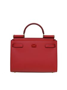 Dolce & Gabbana - Sicily 62 small bag in red leather
