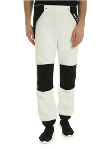 Moncler Grenoble - Teddy effect trousers in white