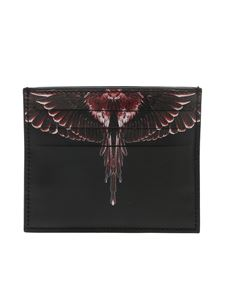 Marcelo Burlon - Porta carte nero Red Ghost Wings