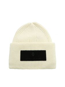 Marcelo Burlon - Patch Wings beanie in ivory color