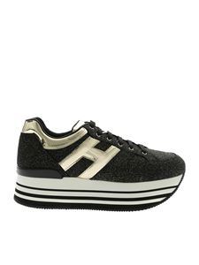 Hogan - Sneakers H283 nere e dorate