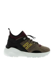Hogan - Sneakers H443 color fango e viola