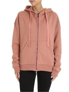 N° 21 - Overfit hoodie in antique pink color with logo