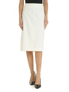 N° 21 - Viscose and wool skirt in cream color
