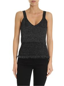 Diane von Fürstenberg - Binx lamé crop top in black