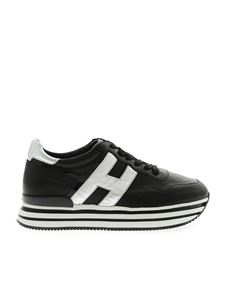 Hogan - H483 sneakers in black and silver
