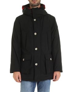 Woolrich - Check details parka in black
