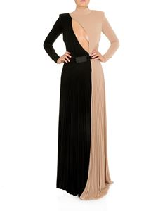 Elisabetta Franchi - Two-tone long dress in pink and black